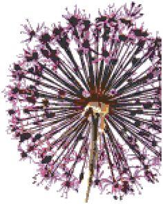 Allium Counted Cross Stitch Pattern van WooHooCrossStitch op Etsy