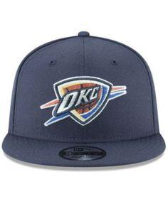 New Era Oklahoma City Thunder Team Metallic 9FIFTY Snapback Cap - Blue Adjustable