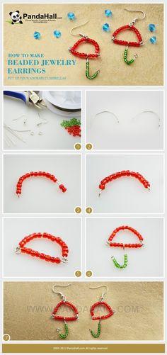 DIY Beaded Jewelry Earrings