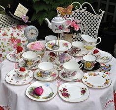 #teatime vintage tea cups
