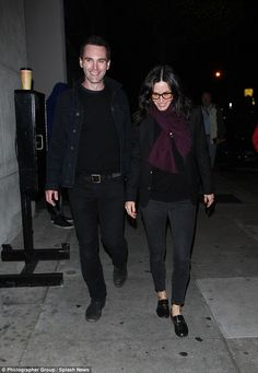 Is the wedding back on? Courteney Cox and former fiance Johnny McDaid enjoy a dinner date in West Hollywood on Tuesday after reuniting over Easter