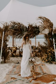 Our free-spirited, whimsical, Bohemian beach bride in all of her glory. A wild romantic. Wedding Planner, Destination Wedding, Bohemian Beach, Photography And Videography, Get Outside, Free Spirit, Photo Booth, Event Planning, Wedding Styles