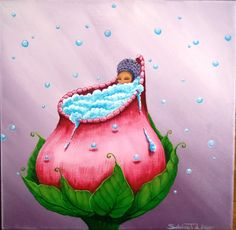 """Painting on canevas Collection """"Children of the Wood"""" by Sabrina Tanase"""