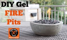It's getting chilly at night and I thought about making a fire pit. But it's not allowed by our town.   So I decided to make a table top fire pit using gel fuel…