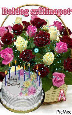 SZÜLIKÉP ANÓKÁTÓL Happy Birthday Larry, Happy Birthday Didi, Happy Birthday Clip Art, Birthday Card With Name, Happy Birthday Greetings Friends, Happy Birthday Cake Pictures, Happy Birthday Wishes Photos, Birthday Wishes Flowers, Birthday Wishes For Kids
