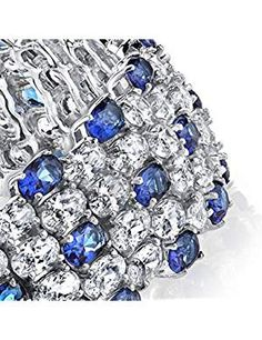Sterling Silver Sapphire Bracelet Zirconia. *** More info could be found at the image url. We are a participant in the Amazon Services LLC Associates Program, an affiliate advertising program designed to provide a means for us to earn fees by linking to Amazon.com and affiliated sites.
