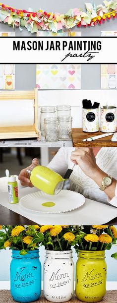 Best DIY Projects: Mason Jar Painting Party