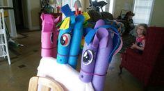 Pool noodle ponies