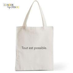 Tote Bag Rock my Citron,  Tout est Possible, Cadeaux Fêtes, Anniversaires, Naissances