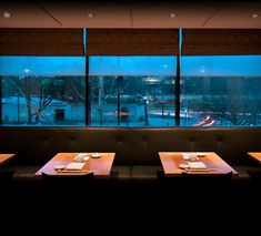 Nobu restaurant in London  same table configuration