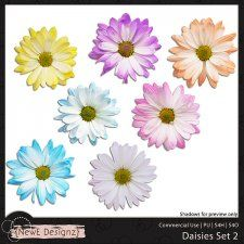 Daisies Set 2 #CUdigitals cudigitals.com cu commercial digital scrap #digiscrap scrapbook graphics