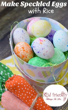 √ Coloring Eggs with Rice. 11 Coloring Eggs with Rice. Dye Easter Eggs with Rice Super Fun and Easy Easter Egg Dye, Coloring Easter Eggs, Speckled Eggs, Easter Activities, Children Activities, Holiday Activities, Easter Treats, Egg Decorating, Freundlich