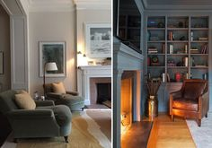 Living room inspiration for a 1930s house with original details complete with…
