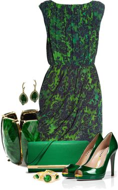 """""""All Green"""" by capehler on Polyvore"""
