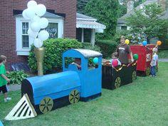 Cardboard Birthday Train
