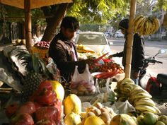 Purchasing one Kantha Scarf enables a family in India to buy two bags of fresh fruit and vegetables for their family. Jaipur, India. Thank you.