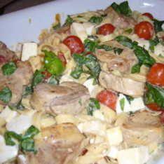 Fläskfilé med mozzarella och tomat