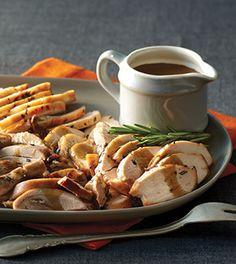 Rosemary Turkey with Porcini Pan Sauce