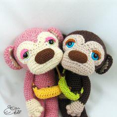 Lulu & Kona the Sleepy Eyed Monkey - Amigurumipatterns.net