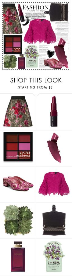 """""""Floral Garden"""" by cherieaustin on Polyvore featuring Dolce&Gabbana, Bobbi Brown Cosmetics, NYX, By Terry, Beau Coops, Costarellos, Jayson Home, Gucci and TONYMOLY"""