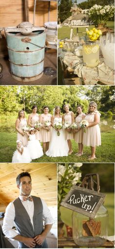 Tried to just the pin the pic of the bridesmaid dresses, but couldn't.. love the pale pink