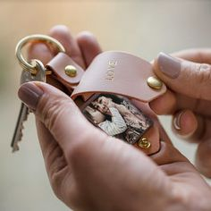 Personalised Metal Photo Keyring With Pink Leather Case by Create Gift Love, the perfect gift for Explore more unique gifts in our curated marketplace. Pink Leather, Cowhide Leather, Leather Case, Personalized Stockings, Personalized Gifts For Her, Leather Keyring, Leather Gifts, Photo Keyrings, Hessian Bags