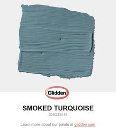 For a meditative bedroom, this teal creates quite a lovely space. Trim with off whites and contrast with dark wood furniture. View this Glidden paint color, and picture it in your home at Matching Paint Colors, Paint Colors For Home, Paint Colours, Stain Colors, Glidden Paint Colors, Mauve, Lounges, Painting Cabinets, Wall Colors