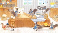 "serico / イラストレーターさんのツイート: ""🐿🐿🐿 #リスの日… "" Children's Book Illustration, Food Illustrations, Food Drawing, Forest Animals, Animal Drawings, Illustrators, Chibi, Cute Animals, Kawaii"