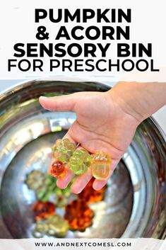 Looking for pumpkin and acorn sensory activities for toddlers or preschoolers? Then try this super simple pumpkin and acorn sensory bin with water. It's a great way to work on fine motor skills! #sensory #sensoryplay #sensorybins #sensorybin #acornactivities Sensory Activities Toddlers, Sensory Bins, Sensory Play, Water Play For Kids, Fine Motor Skills, Acorn, Kids Playing, Preschool, Pumpkin