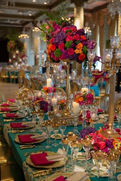 72 Sweet Garden Wedding Decor Ideas To Try colorful table decorations centerpiece; outdoor wedding decorations i Outdoor Wedding Decorations, Table Decorations, Centerpiece Wedding, Mexican Wedding Centerpieces, Floral Centerpieces, Wedding Colors, Wedding Flowers, Summer Wedding, Dream Wedding