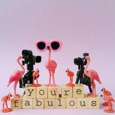 Vierkante wenskaart - You're Fabulous