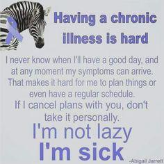 Having a chronic illness is hard