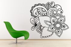 Vinilo decorativo Flor Oriental, para darle a tu hogar un toque zen
