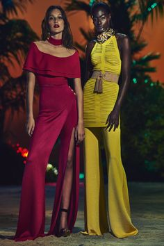 Balmain, Look #22 I love the style of these romper a, the different take on pant leg style is so fun!
