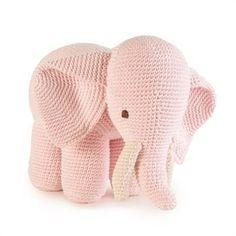 Elefante de Crochê Rosa