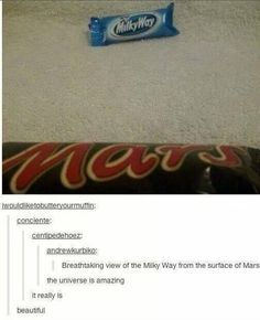 ... Mars is in the Milky Way... Y'know, what with sharing our solar system and everything