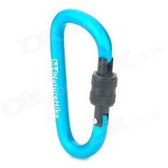 NatureHike-NH D-Shape Aluminum Alloy Screw Gate Locking Carabiner - Blue
