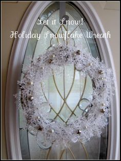 This is really cute, and as Mama Nibbles lets you know you can recycle old wreath to help with cost. I Like this very much !!!  Mama Nibbles: Let it Snow Holiday Snowflake Wreath
