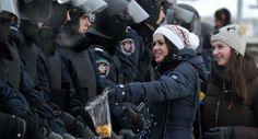 Kiev - Ukraine Riots   http://www.parrotte.net