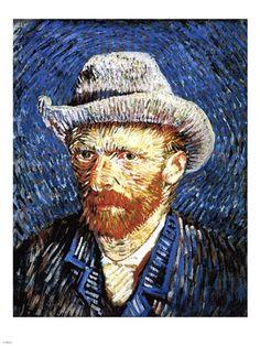 Self-Portrait with Grey Felt Hat, Paris, c.1887 by Vincent Van Gogh art print