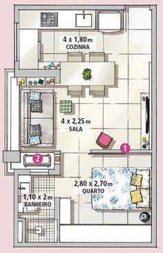 Ao invés de derrubar paredes para ganhar amplitude, erguer uma divisória foi a estratégia crucial para deixar o apartamento mais organizado e funcional