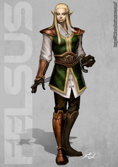 White elf Male by Felsus.deviantart.com on @DeviantArt