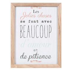 Cette phrase en affiche personnalisée // Tableau en bois 34 x 44 cm LES JOLIES CHOSES