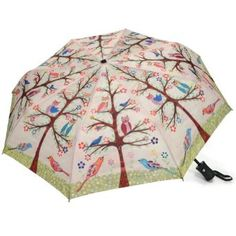 "Owls Auto Open and Close Collapsible Umbrella. Large 44"" canopy"