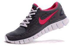 Nike Free Run+ Women Running Shoes (grey/pink)