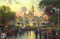 Disneyland 50th Anniversary by Thomas Kinkade