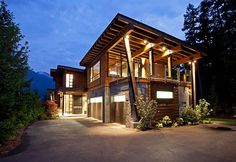 mountain home exterior design Architecture and Design House Mountain Home Exterior, Modern Mountain Home, Mountain Homes, Mountain Style, Residence Architecture, Architecture Design, Colonial Architecture, Style At Home, Contemporary Cabin