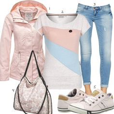 Rosa Damenoutfit mit Shirt, Jacke und Sneakern #rosa #only #naketano #frühling #outfit #style #frau #damen #mode #fashion #womensfashion #womensstyle #womenswear #frauenmode #damenmode #inspiration #frauenoutfit #damenoutfit #ootd