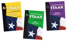 STAAR Flashcards for grades 3 through 8 Includes new updated Math Standards!