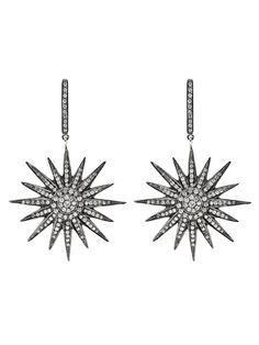 diamond star earrings - a bit of a rocker vibe for an edgy bride